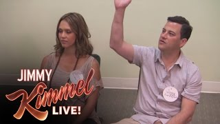 Jimmy Kimmel Takes Jessica Alba to Birthing Class