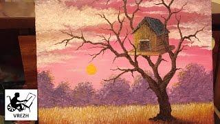 Рисование масляными красками домика на дереве.(Рисование масляными красками домика на дереве от Врежа Киракосяна. *** Если вам нравится то, как я рисую,..., 2016-06-13T08:12:21.000Z)