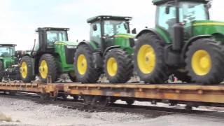 A train load of tractors