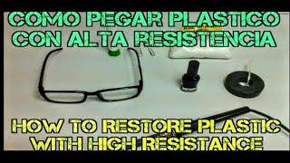 COMO PEGAR  PLASTICO ROTO,repara tus gafas ó cualquier pieza de plastico