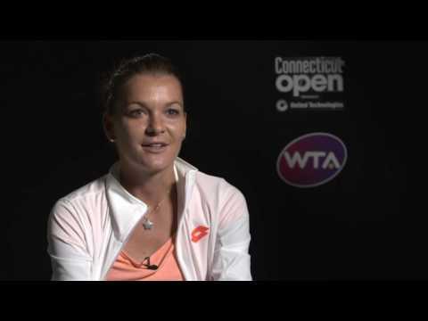 Agnieszka Radwanska 2016 Connecticut Open Semifinal Interview
