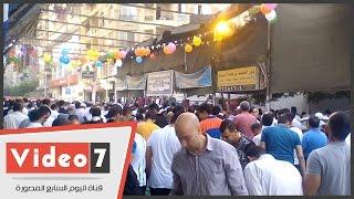 بالفيديو.. صلاة عيد الفطر فى مسجد العزيز بالله بالزيتون