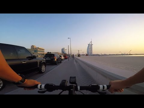 CYCLING VLOG | BEAUTIFUL SUNSET IN DUBAI | 1st RIDE AFTER LOCKDOWN | BURJ AL ARAB | EP. 001