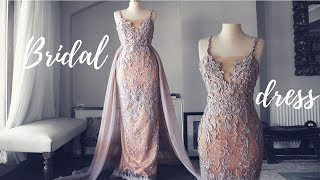 MAKING A WEDDING PARTY DRESS | SECOND WEDDING DRESS