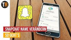 Snapchat Anzeigename verändern | Tutorial 4K