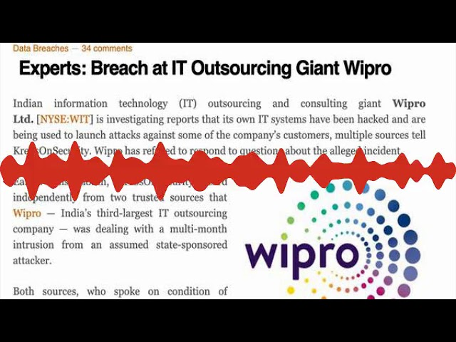 Wipro customers hacked, says Krebs  Nothing to see here