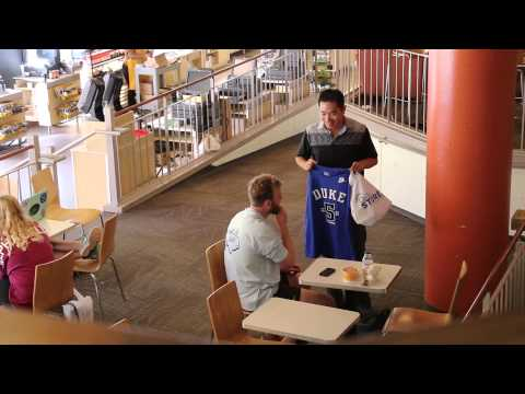 Duke University Alumni: Jia Jiang MBA'09 -- Rejection Attempt #1: Get a UNC Student to Swap Shirts