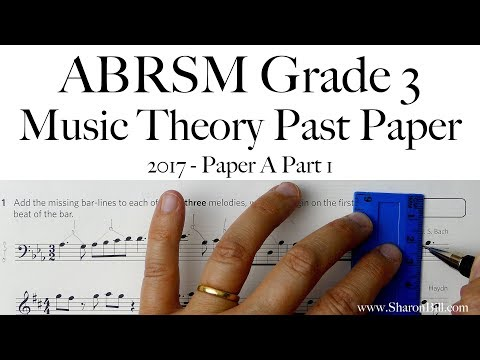ABRSM Music Theory Grade 3 Past Paper 2017 A Part 1 With Sharon Bill