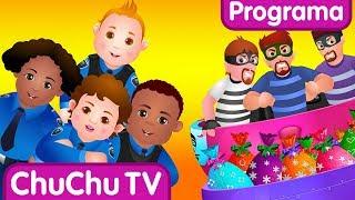 ChuChu TV Huevos Sorpresas de Policías – Episodio 03 - La Persecución en el Ferrocarril thumbnail