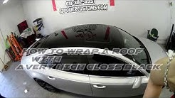 HOW TO WRAP A ROOF? COMPLETE BLACK ROOF WRAP ON AUDI A7