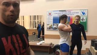 Сегодня я привёз Александра Фанту в школу олимпийского резерва по тяжелой атлетике...