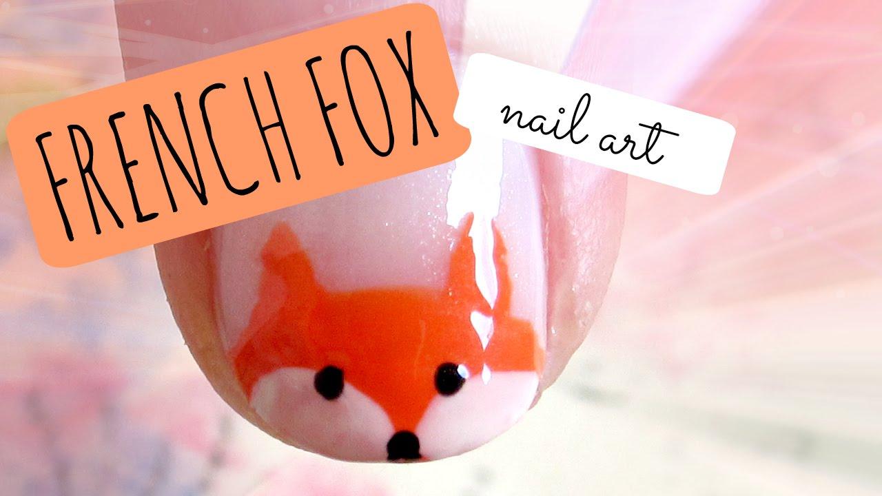 FRENCH FOX * nail art tutorial - YouTube
