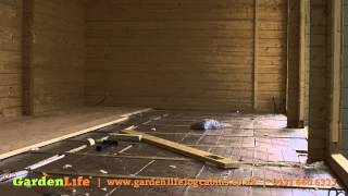 Adding Insulation And Floorboards To A Garden Summerhouse