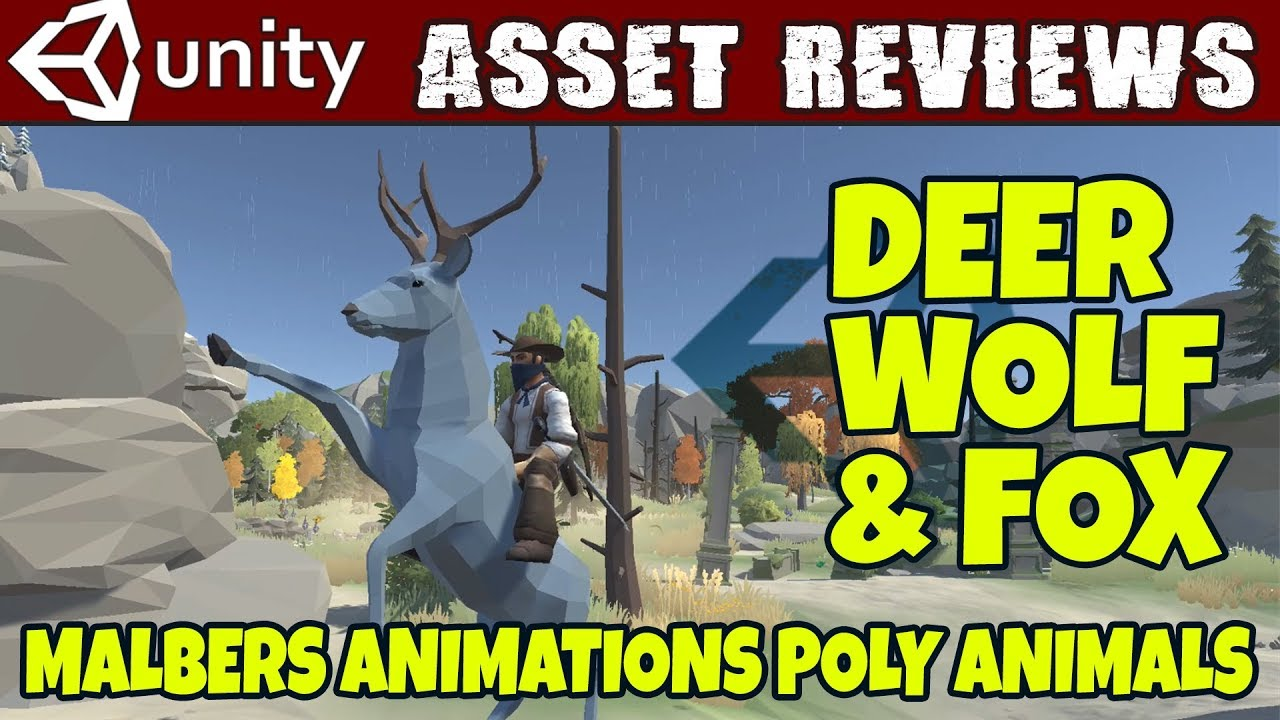 Unity Asset Reviews - Malbers Poly Animals - Deer, Wolf & Fox