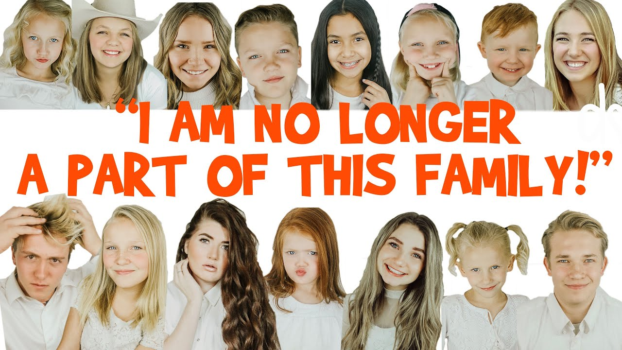 15 SIBLINGS?! I'M NO LONGER A PART OF THIS FAMILY! | Big Family Youtube  Channel