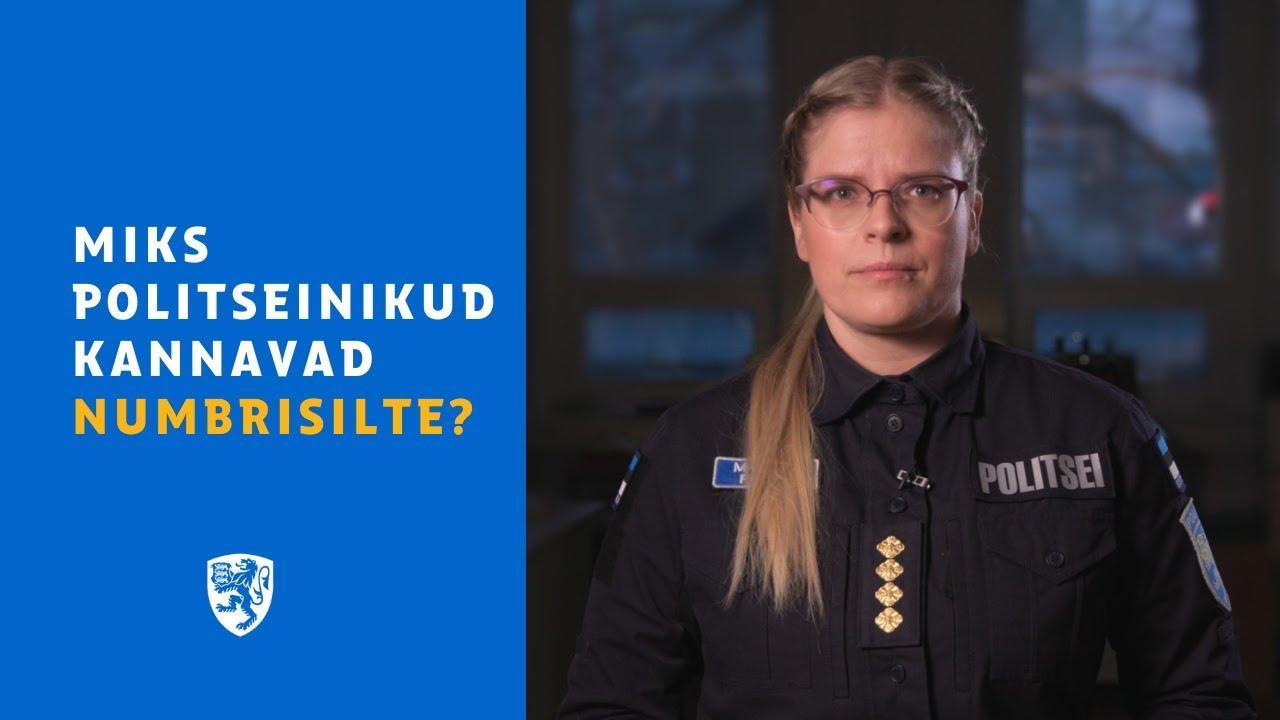 Miks politseinikud kannavad numbrisilte?