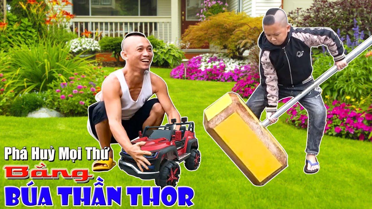 Phá Huỷ Tất Cả Mọi Thứ Với Búa Thần Thor Khổng Lồ - Destroy Everything With The Giant Thor's Hammer