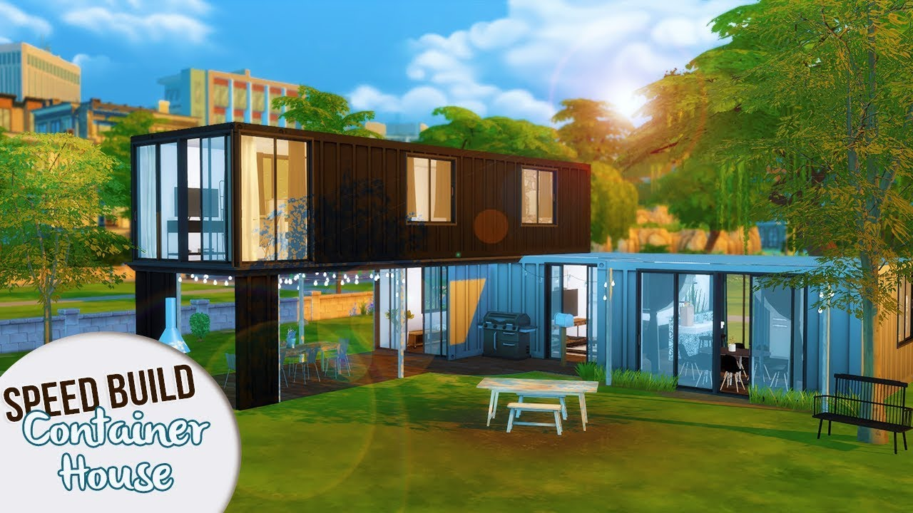 CONTAINER HOUSE | The Sims 4 Speed Build