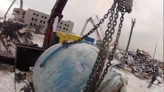 Подъем задвижки весом 10 тонн.(, 2013-01-06T00:03:28.000Z)