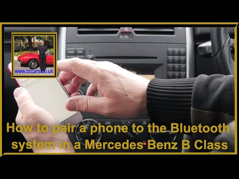 How to pair a phone to the bluetooth system in a Mercedes Benz B Class 2 0 B180 CDI SE Hatchback 5dr