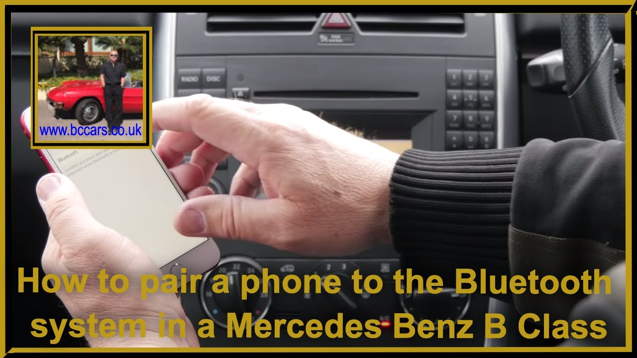 how to pair a phone to the bluetooth system in a mercedes. Black Bedroom Furniture Sets. Home Design Ideas