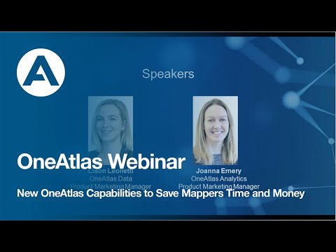 OneAtlas Webinar: New OneAtlas Capabilities to Save Mappers Time and Money