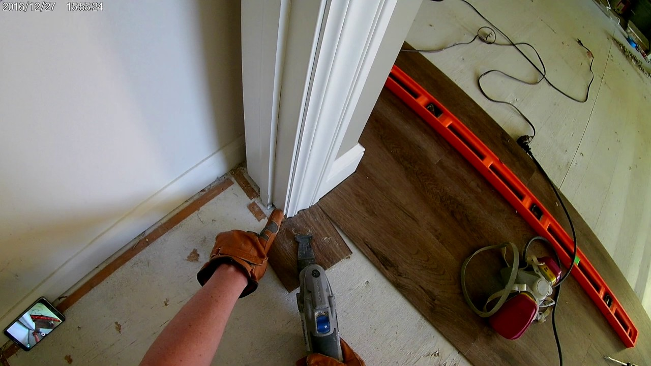How To Undercut Door Frames Install Laminate Flooring In A Doorway With Dremel Multi Max Mm45
