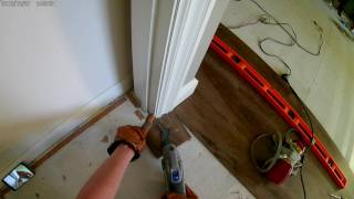 How to Undercut Door Frames to Install Laminate Flooring in a Doorway with a Dremel Multi-Max MM45