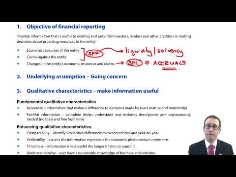 IASB Conceptual Framework – Objective of financial reporting - ACCA SBR lectures