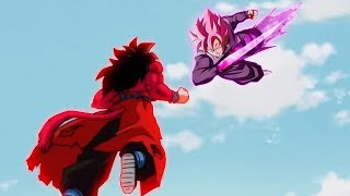 Super Saiyan 4 Goku Meets Goku Black