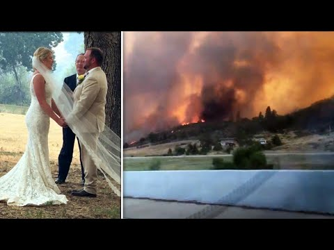 Couple Marries in the Middle of California Wildfires