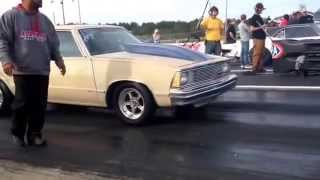 Crazy Chevy Malibu vs Pontiac Firebird race