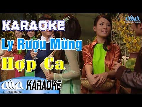 Karaoke LY RƯỢU MỪNG Hợp Ca - Karaoke Nhạc Vàng Bất Hủ - Asia Karaoke Song Ca