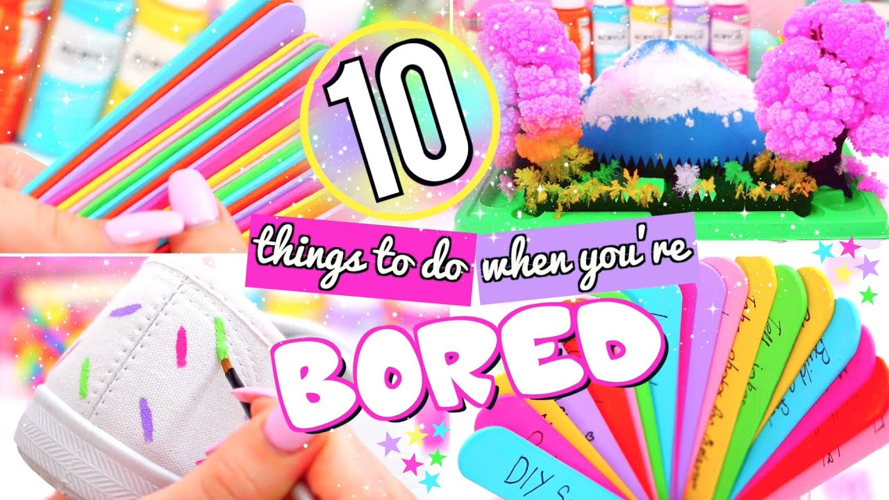 10 FUN THINGS TO DO WHEN YOU\'RE BORED! WHAT TO DO WHEN BORED! - YouTube