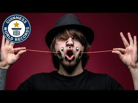 Most flesh tunnels (face) - Guinness World Records