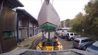 Roodberg Boat Mover @ Plymouth Yacht Haven - The Pontoon & Dock Company Ltd