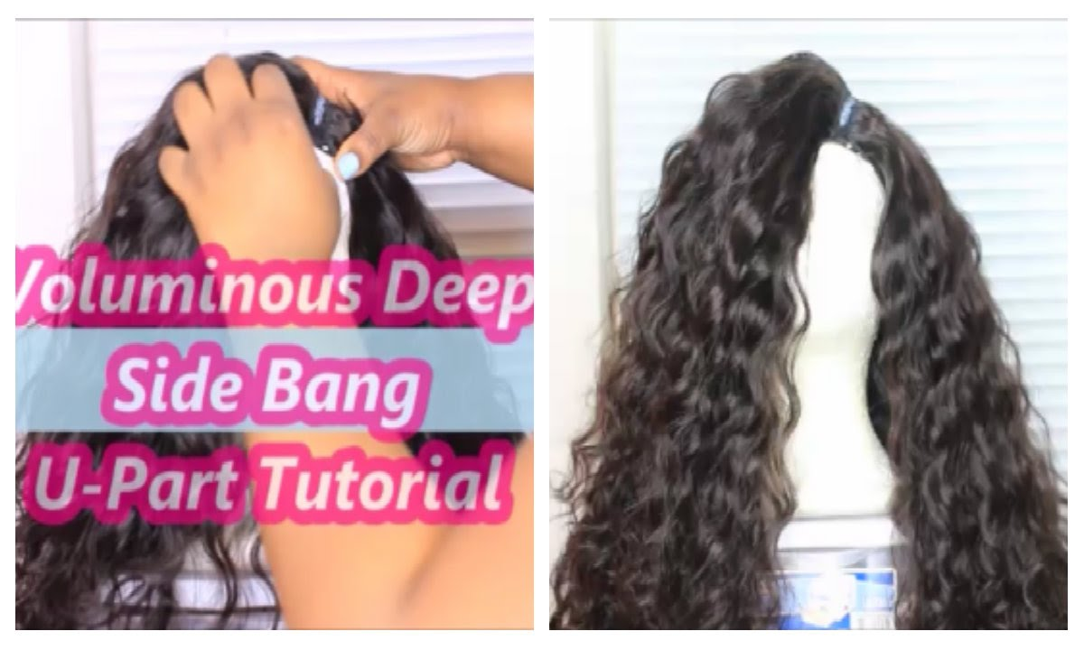 Volumious Deep Side Bang U Part Wig Tutorial Youtube