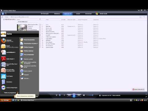 convertendo audio para mp3 pelo windows media player 11