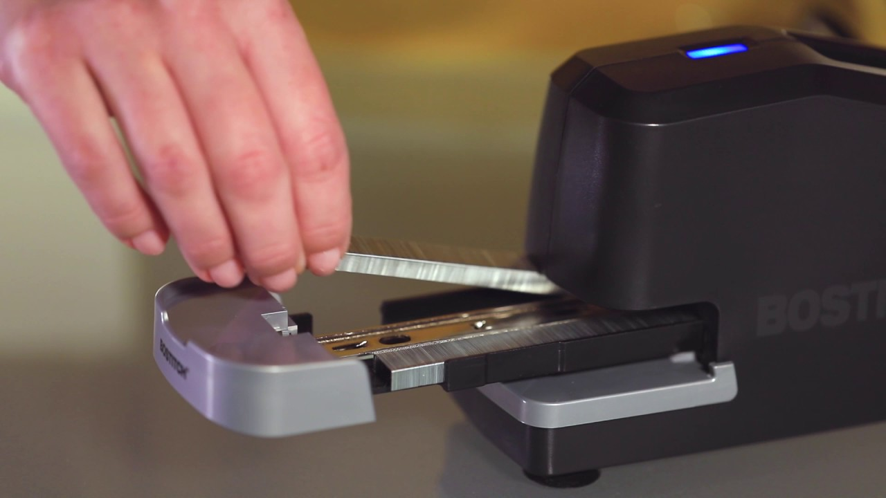 How To Load The Bostitch Impulse 25 Trade Electric Stapler