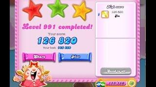 Candy Crush Saga Level 991    ★★★   NO BOOSTER