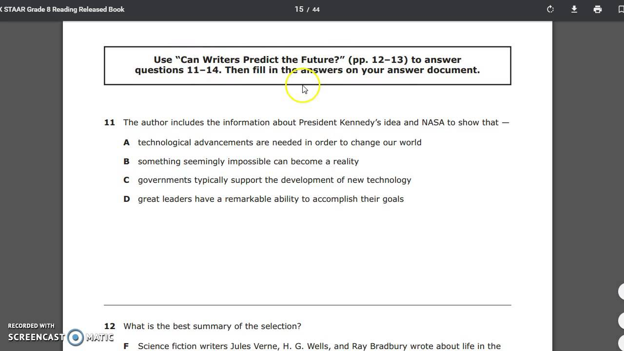 medium resolution of Tackling the 8th Grade STAAR Reading Test - YouTube