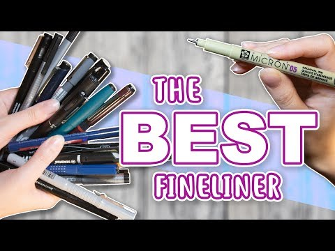 FINDING THE BEST FINELINER - Testing 20 Fineliner Pens - Pigment, Watercolor & Markers Test