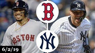 Boston Red Sox vs New York Yankees - Full Game Highlights | June 2, 2019 | 2019 MLB Season