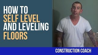 How to Self Level and Leveling Floors - DIY Tricks for renos