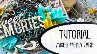 How to do mixed-mdia card | Scrapbooking | Как сделать открытку своими руками