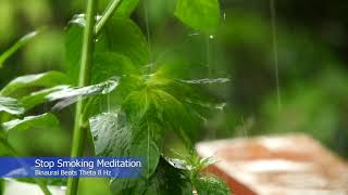 Stop Smoking Meditation - Helps reduce cravings, minimize withdrawal. Binaural Beats Theta 8 Hz