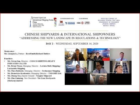 2020 International Shipping Forum - China - Chinese Shipyards & International Shipowners