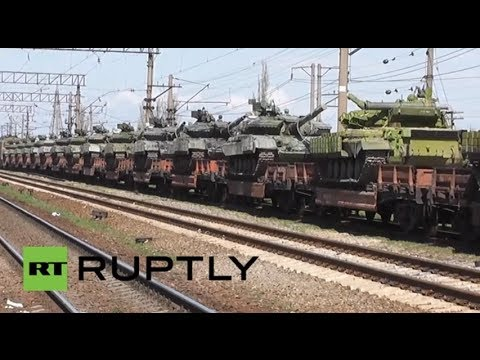 Russia: First delivery of Russian T-72 tanks arrive in Crimea
