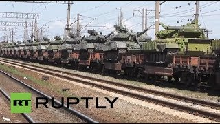 russia first delivery of russian t 72 tanks arrive in crimea