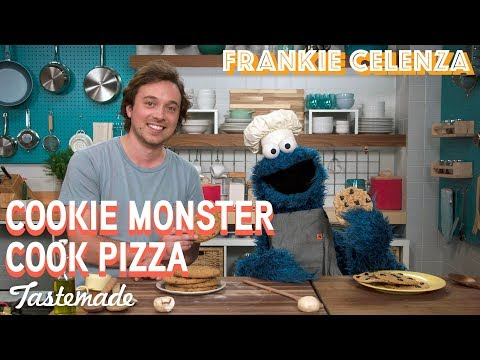 Frankie & Cookie Monster's Homemade Pizza